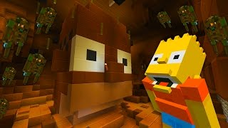 Homer Simpson Turns into a Poo Monster | The Simpsons | Minecraft Xbox [62]