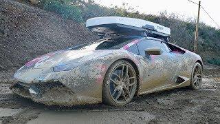 800HP LAMBO GOES OFF-ROADING, car ruined...