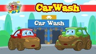"""Car Wash"" @ ""Mr.Wheeler&Friends"" CARtoons for kids"
