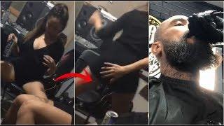 Babo De Cotorreo Con Morras | Cortandose La Barba En Su BarberShop | Cartel De Santa