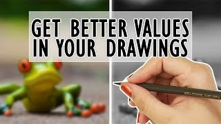 #1 HACK for getting ACCURATE VALUES with your Colored Pencil Drawings