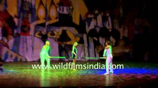 Contemporary dance by Russian dancers in India