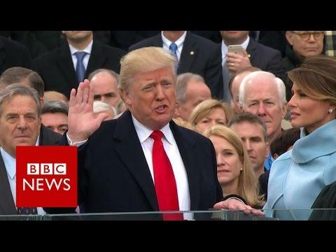 watch Donald Trump sworn in as US President. - BBC News