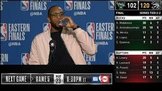 Khris Middleton postgame reaction | Raptors vs Bucks Game 4 | 2019 NBA Playoffs
