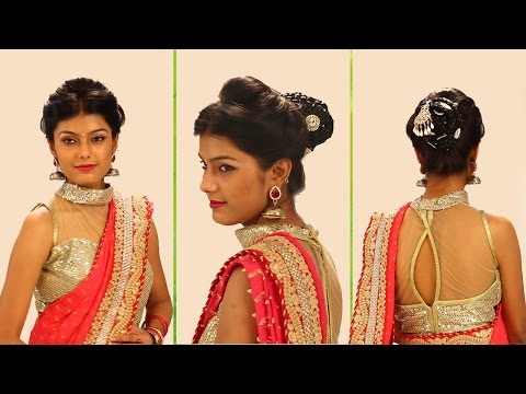 Xxx Mp4 Indian Bridal Hairstyles Step By Step Simple Bridal Bun Hairstyles For Wedding And Party 3gp Sex