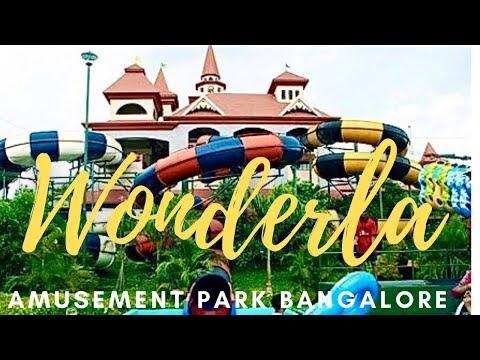 Bangalore Wonderla Amusement Park Tour in 20mts - All Dry Wet Rides *HD*