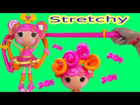 Lalaloopsy Stretch Candy Gummy Like Hair Doll Whirly Stretchy Locks Toy Review Unboxing