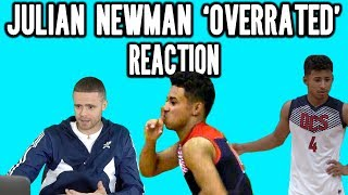 Professor Reacts to Julian Newman Overrated Game