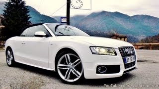 Audi S5 Cabriolet Driving, Accelerations and Sound