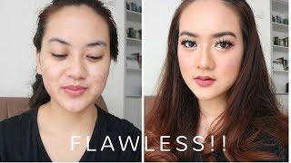 BIKIN MAKEUP FLAWLESS DI MUKA BERJERAWAT - Flawless Mauve Glam Make up Tutorial with Acne Cover