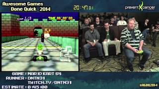 Mario Kart 64 :: 150cc Large-skips SPEED RUN Live by DNTN31 #AGDQ 2014