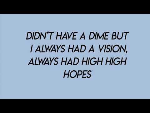 high hopes - panic! at the disco (lyrics)