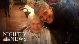 George Clooney Surprises Elderly Fan For Her Birthday | NBC Nightly News