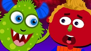 Halloween Songs for Kids - Where is the Monster? Hindi Nursery Rhymes