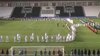 Nadir Abdul Salam singing for the Qatar Emir Cup 2014 Semi Final