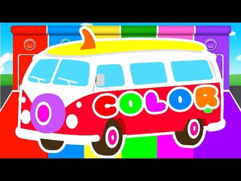 FUNNY BUS & COLORS for Kids Cars Learning Educational Video Superheroes for babies toddlers