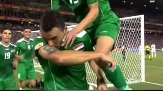 هدف العراق على الإمارات 2015 وتقبيل وليد سالم صورة الإمام علي (ع)
