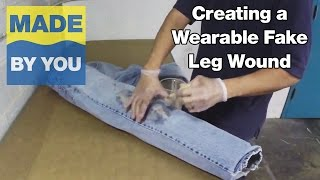 How To Make a Wearable Fake Leg Wound Effect