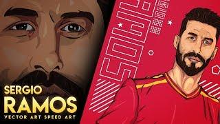 Sergio Ramos Vector Art(Vexel Art ) In Photoshop | Speed Art | GD Design