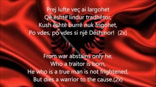 Himni i Flamurit-Albanian National Anthem English lyrics