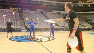 Trick Shots with Harlem Globetrotters   Brodie Smith