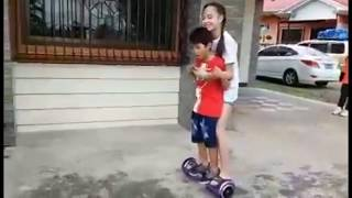 AC Bonifacio Hoverboarding with her brother Ace