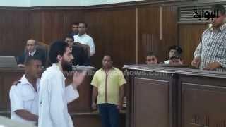 """متهم في """"أنصار بيت المقدس"""" يتطاول علي القاضي أثناء المحاكمة"""