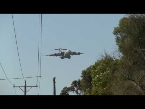 RAAF C17A A41-210 Landing At Point Cook