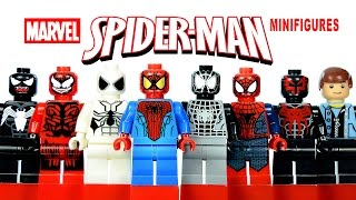 LEGO Spider-Man KnockOff Minifigures w/ Corrected Feet + Carnage & Venom Review