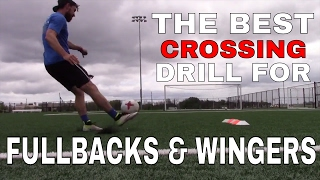 FULLBACK/WINGER CROSSING DRILL FOR INDIVIDUAL FOOTBALL - SOCCER TRAINING |