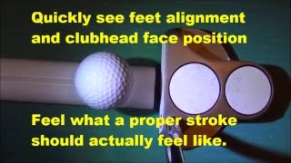 SIMPLE -SPIN Golf Putting Aid Ingenious Invention