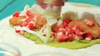 """أسهل طريقة لعمل """"بوريتو قطع ستربس دجاج"""" حلواني في دقايق"""