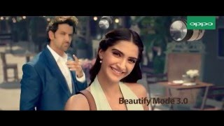 Hrithik Roshan and Sonam Kapoor Oppo F1 duo mobile new ad 2016