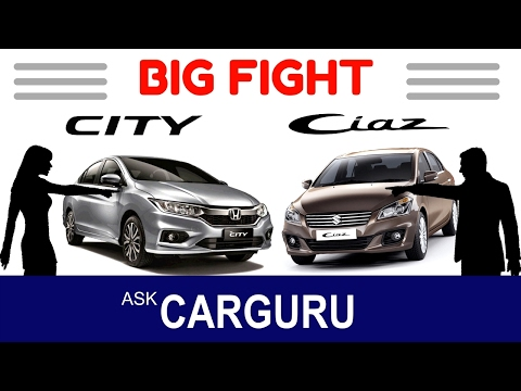 Honda CITY vs Maruti CIAZ, CARGURU, हिन्दी में, Engine, Interior, Top Speed, 0- 100 Performance