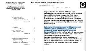 Jesus forscher Seite 39 Gott und Gottesanbetung