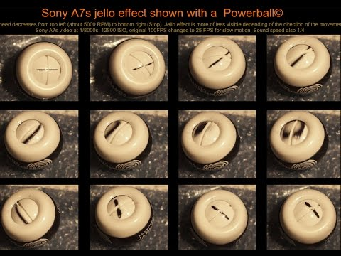 Sony A7s Jello effect shown with a Powerball© in Slow motion En Fr
