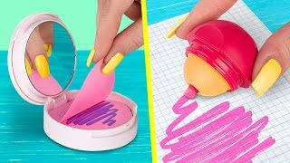 11 DIY Weird School Supplies You Need To Try / School Pranks And Life Hacks