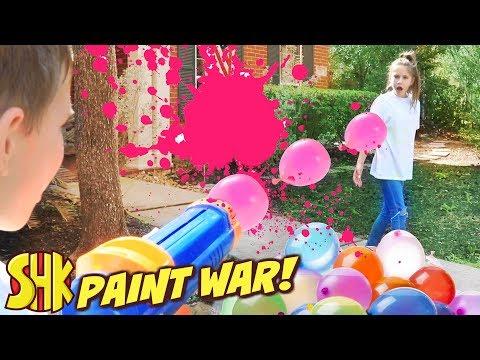 Paint War April Fools Day Battle SuperHeroKids