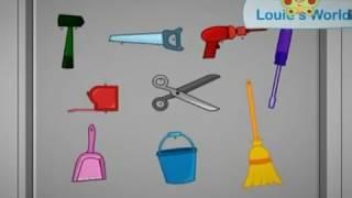 BabyTV Louie's world work tools english