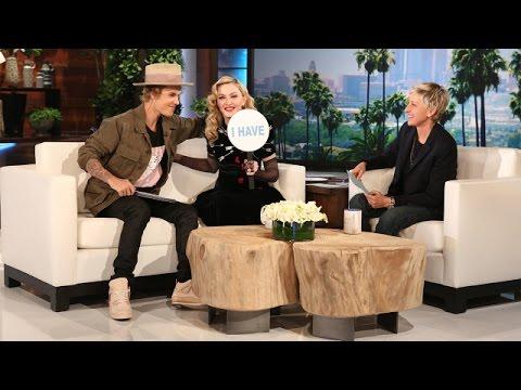 Ellen s Favorite Moments Madonna and Justin Bieber Play Never Have I Ever