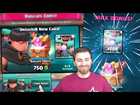 Xxx Mp4 NEW MAX BONUS RASCALS CHEST OPENING UNLOCKING NEW CARD Clash Royale NEW UPDATE CARD OFFERS 3gp Sex