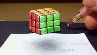 Comment dessiner un Rubik's cube 3D - Illusion [Tutoriel]