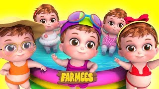 Five Little Babies | Kindergarten Nursery Rhymes For Kids