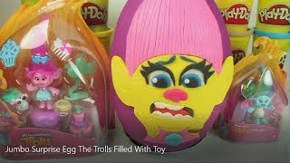 Jumbo Surprise Egg The Trolls Filled With Toy