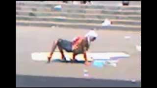 Human/Hybrid creature walking through streets