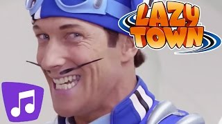 Lazy Town | No Ones Lazy In Lazy Town | Music Video | Kids Karaoke