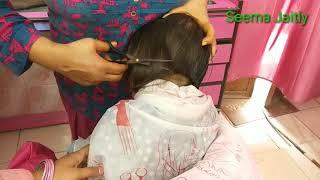 Front mix Blunt Haircut!! Baby Blunt Haircut!!छोटे बच्चों के बाल कैसे काटे!Pixie haircut!Bob haircut