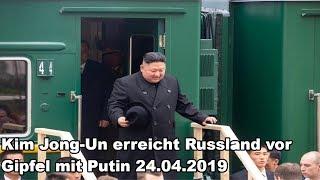 Kim Jong-Un erreicht Russland vor Gipfel mit Putin 24.04.2019