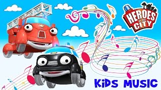 Kids music – The song about Paulie Police Car and Fiona Fire Engine – Heroes of the City