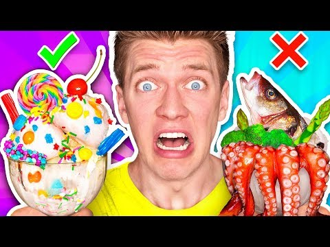 ICE CREAM vs REAL FOOD CHALLENGE EATING GIANT CANDY Learn How To Make DIY Edible Gummy Sundae